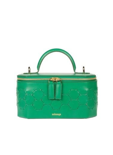 Mianqa Hakiki Deri Çanta Yeşil